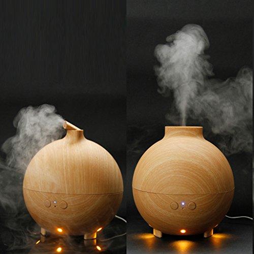 Floureon Essential Oil Aroma Diffuser Ultrasonic Humidifier Air Mist Aromatherapy Purifier Woodgrain (20006A)