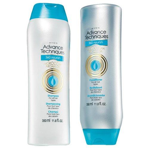 Avon Advance Techniques 360 Nourish Moroccan Argan Oil Shampoo & Conditioner Set (11.8 fl oz) (Avon Shampoo And Conditioner compare prices)