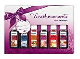 6 verwöhnende Duftbäder in schicker Geschenkbox.Produkteigenschaften:Mit tetesept Verwöhnmomenten verschenken Sie gleich sechs Mal Freude....Für jeden Anlass das richtige Geschenk! Ob als Mitbringsel beim Besuch oder kleine Aufmerksamkeit, als Weihna...