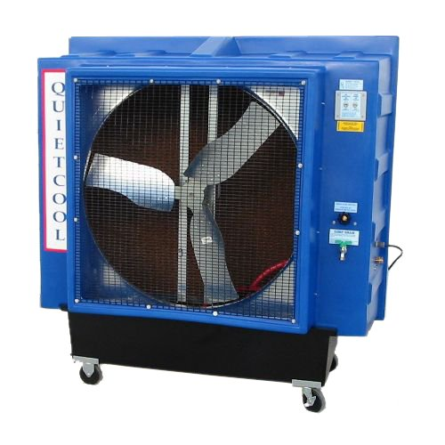Quietaire QC36D1 36 Inch Direct Drive Portable Evaporative Cooler With 2,500 Square Foot Coverage Area