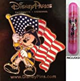 Disney Parks Colonial Mickey Mouse With The American Flag - Disney Parks Exclusive & Limited Availability - Double Sided Minnie Stamp Included