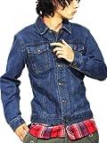 (エイト) 8(eight)6color デニムジャケット Gジャン ブルゾン L ブルー