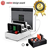 Avantree Powerhouse, Multi-Device Desktop Charger + Charging Station, Fast Charging, Desktop tidy, Compact Size with Cord Management, High Capacity, Universal Compatible with Smartphones (Apple cable NOT included), Tablets and Other Devices (White)