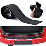 Advgears Rear Bumper Protector Guard Universal Black Rubber Scratch-Resistant Trunk Door Entry Guards Accessory Trim Cover for SUV/Cars(35.8Inch)