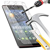 IWIO Acer Liquid E3 Premium Crystal Clear Transparent Tempered Glass Protective LCD Screen Protector with MicroFibre Polishing Cleaning Cloth + Application Card