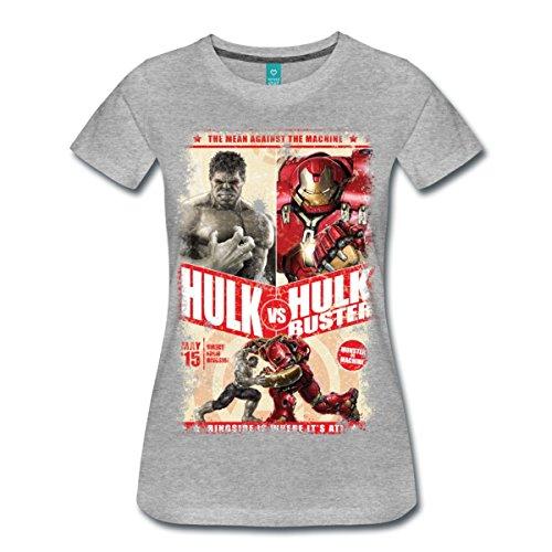 Hulk Vs. Hulkbuster Women's Premium T-shirt By Spreadshirt Picture