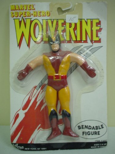 X-Men Bendable Wolverine Figure White Card 1988