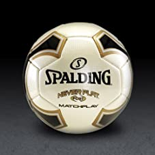 NeverFlat - Black/Gold/White - Soccer Ball - Size 5