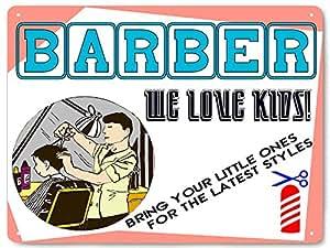 Barber Shop METAL sign kids male version fun retro wall decor for Hair ...