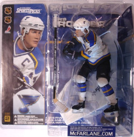 McFarlane Toys NHL Sports Picks Series 2 Action Figure:Chris Pronger(St. Louis Blues) White Jersey (McFarlane's Sports Picks)