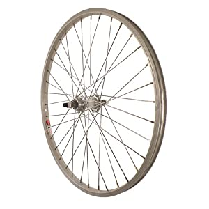 Sta-Tru Silver Alloy Bmx 1 Speed Freewheel Hub Rear Wheel (24X1.5-Inch) by Sta Tru