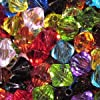 25g - 6mm Mixed Acrylic Faceted Bicone Beads - A5215