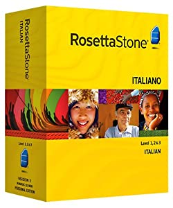 Rosetta Stone Italian Level 1, 2 & 3 set with Audio Companion