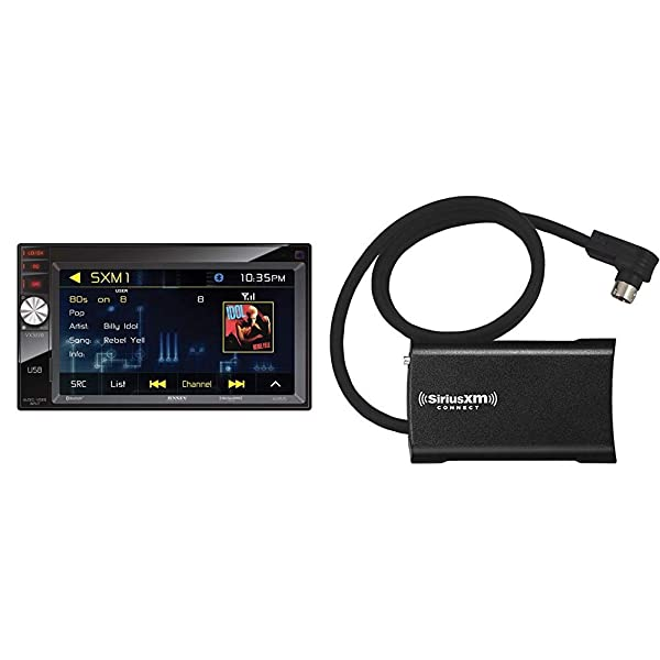Jensen VX3228 6.2 Digital Multimedia LED Backlit LCD Touch Screen and SiriusXM SXV300v1 Connect Vehicle Tuner Kit