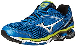 Mizuno Men's Wave Creation 17 Running Shoe, Electric Blue Lemonade/Silver, 9 D US