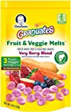 Gerber Graduates Fruit and Veggie, Melts Very Berry Blend, 1 Ounce (Pack of 7)