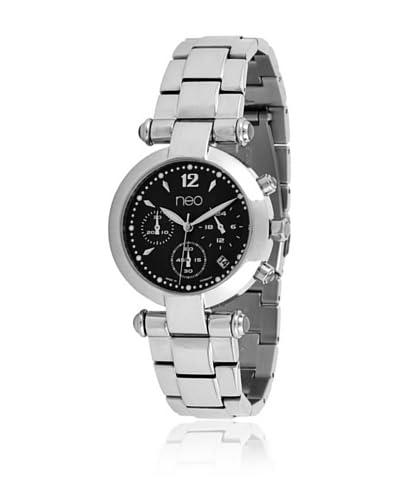 Neo Reloj con movimiento japonés 76954096 Plata / Negro 35 mm