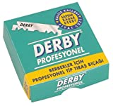 "100 ""Derby Professional"" Single Edge Razor Blades for straight razor"