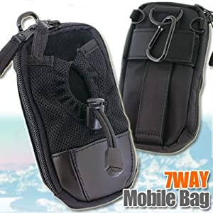 7WAYモバイルバッグ(ブラック)【iPhone4S・iPhone4・iPhone3G/S】