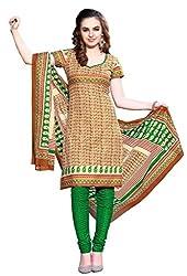 HIFI Ethnicwear Women's Dress Material BRONZE_Free Size