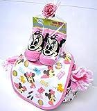 ご出産お祝い リーズナブルなお値段のかわいいおむつケーキ ディズニーSRK (女の子用ミニー)
