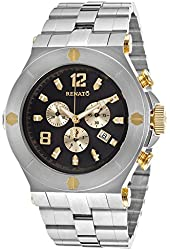 Renato Men's Wilde Beast Chronograph Black Dial Stainless Steel