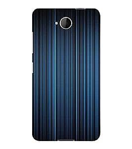 PrintVisa Blue Stripes Design 3D Hard Polycarbonate Designer Back Case Cover for Nokia Lumia 650