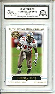 Simeon Rice Autographed Tampa Bay Buccaneers Trading Card - Certified Authentic