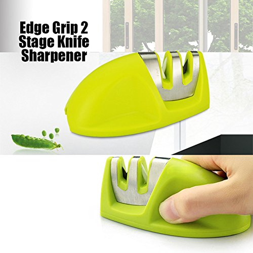 Vogue KitchenIQ 50009 Edge Grip 2 Stage Knife Sharpener #69933 (Kitcheniq 50009 Edge Grip compare prices)