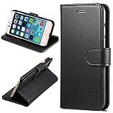 iPhone7 ケース 手帳型 TUCCH® PUレザー ケース カード収納 スタンド機能付き マグネット式 アイフォン7 用 財布型 カバー ブラック