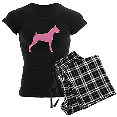 CafePress Pink Boxer Dog Women's Dark Pajamas Women's Dark Pajamas