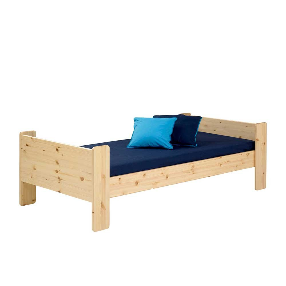 Massivholz Kinderbett aus Kiefer 90×200 Pharao24