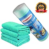 Kiserena Chamois Towel (Green) - Perfect Gift for Men and Women. Super Absorbent Fast Drying Towel - Scratch and Lint Free - Ideal for Drying Cars, Cooling, Gym Workouts, Sports - 1 Towel Per Tube