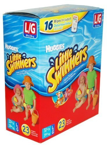 Huggies® Little Swimmers® Swimpants - Large (23 Swimpants + 16 Baby Wipes) - 1