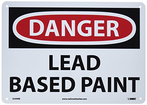Nmc d299rb osha sign legend danger lead based paint for What are the dangers of lead paint