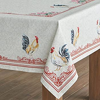 Maison d' Hermine Campagne 100% Cotton Tablecloth 60 - inch by 60 - inch.