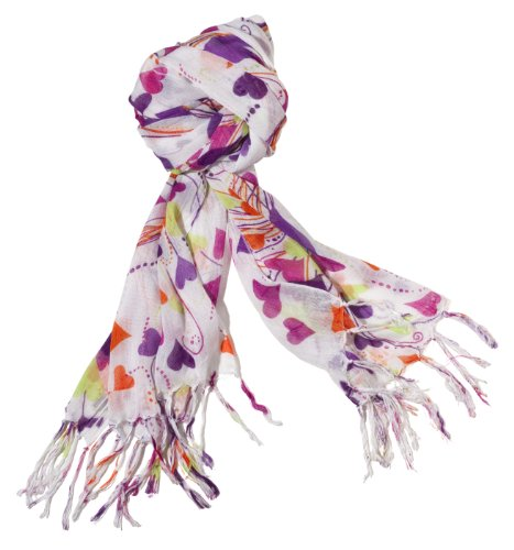 Three Cheers for Girls 73228 Sunshine Hearts Scarf Feature Fashion Scarves For Girls
