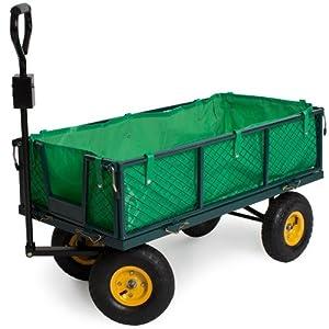 TecTake Charrette à bras Chariot a bras transport 350kg voiturette voiture