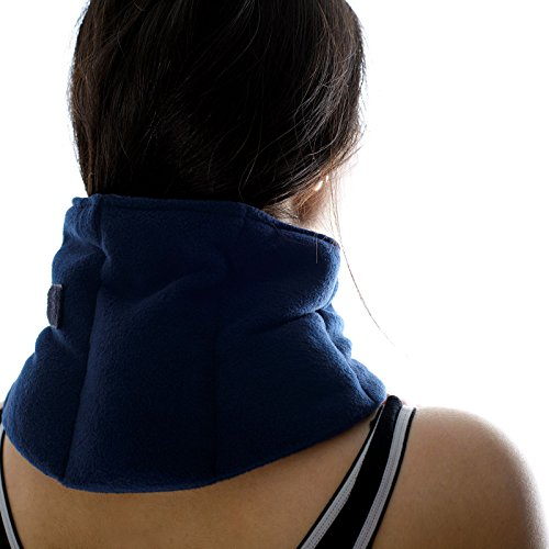 zhu-zhu-soothing-neck-joint-wrap-microwavable-unscented-wheat-bag-navy-fleece