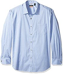 Van Heusen Men's Long Sleeve Traveler Stretch Non Iron Shirt, Blue Crisp, Small