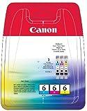 Canon 4706A029 - Cartucho Inyeccion Tinta Tricolor Bci-6 C/M/Y S/800/820/820D/830D/900/9000 I/950/965/9100/905D