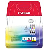 Canon Original Ink Multi-Pack BCI-6C, 6M, 6Yby Canon