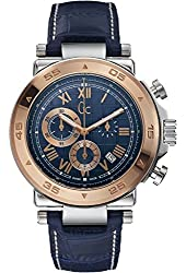 Guess Collection X90015G7S 44mm Stainless Steel Case Blue Calfskin Synthetic Sapphire Men's Watch