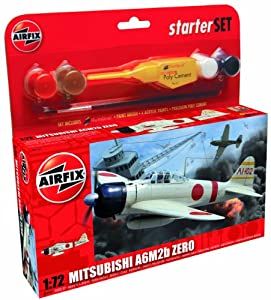Airfix A55102 Mitsubishi Zero 1:72 Scale Model Small Starter Set