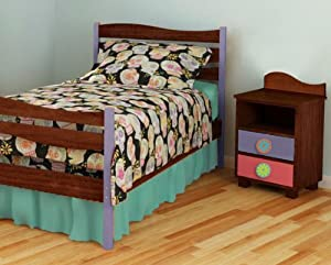 Room Magic Full Comforter and Sham and Bedskirt, Day of the Diva