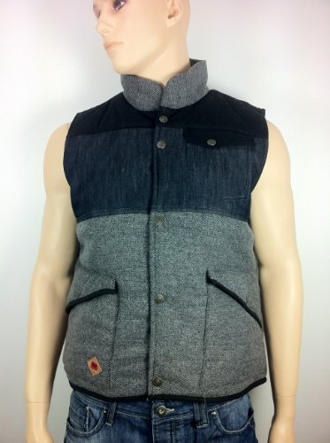 Beck & Hersey Navk/Black Padded Gilet Jacket small