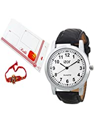 Gift Pack For Brother,Rakhi Gift Set,White Dial Analogue Casual Wear Watch With FreeRakhi (Rakhi Designs May Vary...