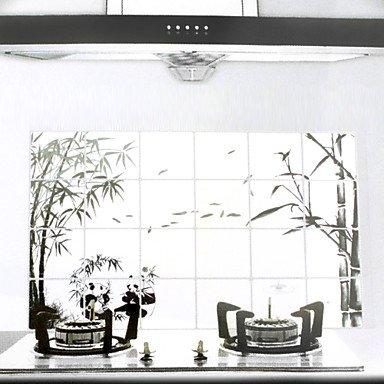 LLsai 90x60cm Wash Drawing SLLsaile Oil-Proof Water-Proof Kitchen Wall Sticker