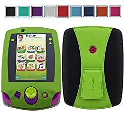 LeapPad 2 Case - HOTCOOL New PU Leather With Kickstand Cover Case For Leapfrog LeapPad 2 Learning Tablet, Green