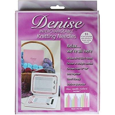 Denise Needles Denise Interchangeable Knitting Needles Kit, Pink Pastels